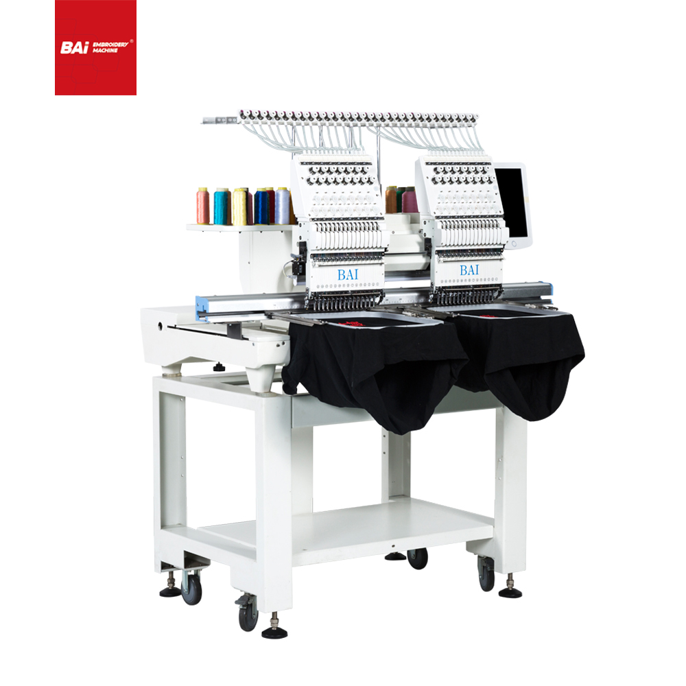 BAI Computerized Operation 450*500mm Flatbed Embroidery Machine for Embroidery Business