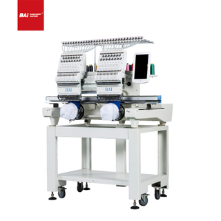 BAI High Speed Multi Function Two Head Computerized Household Hat Embroidery Machine with Cheap Price