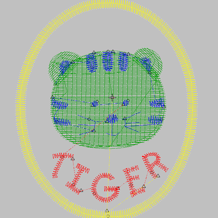 Lovely embroidery Cartoon bear For children's embroidery
