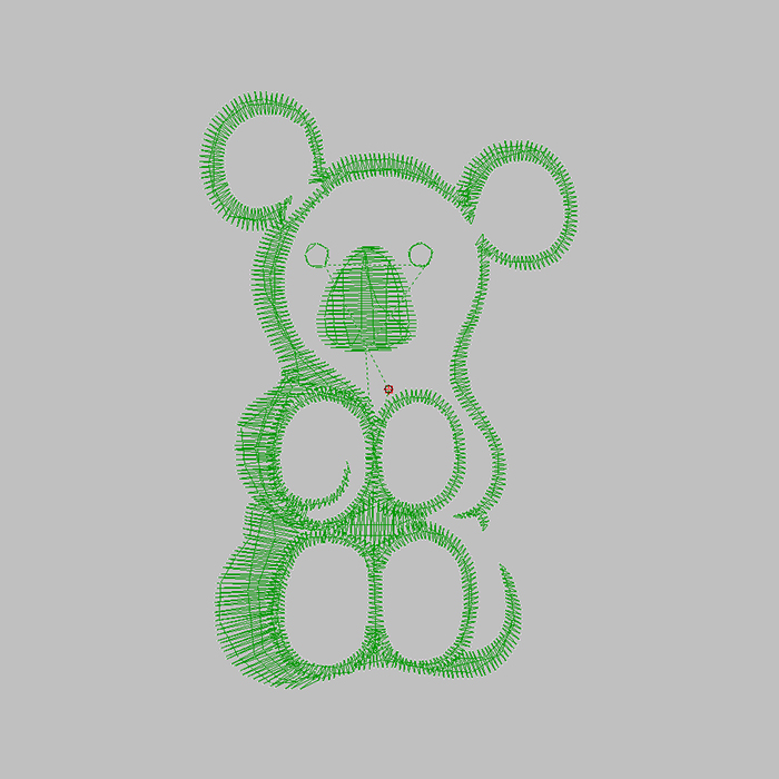 Cute Cartoon Design Bear Large Area Embroidery Can Be Used for Clothes And Hats