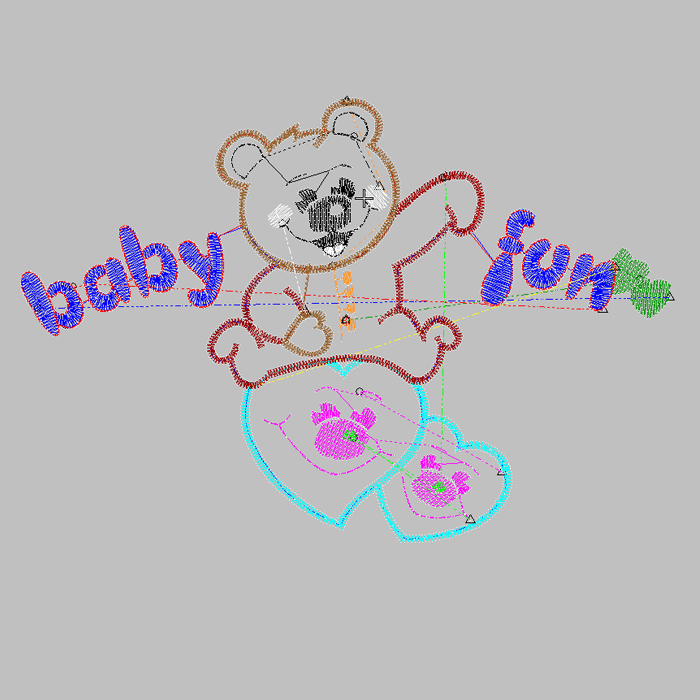 2020 latest bear letter embroidery pattern
