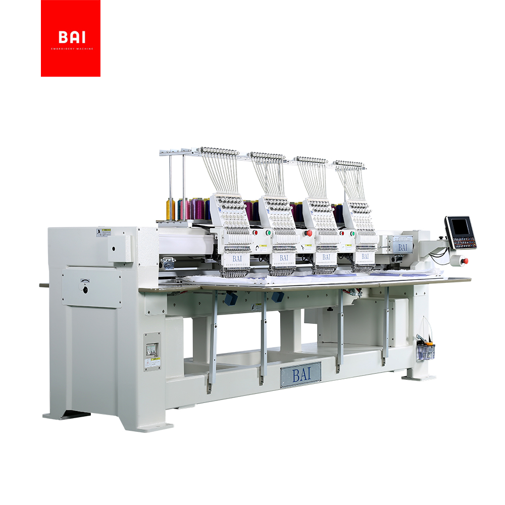 TOP Quality And High Speed 4 Heads 12 Needles Commercial Computer Hat Embroidery Machine