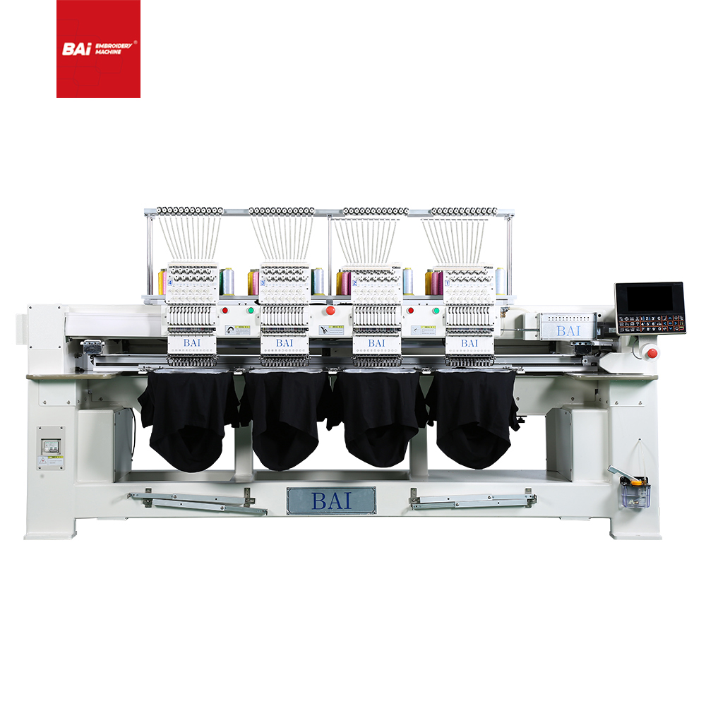 BAI High Speed 4 Heads Flat T-shirt Hat Good Quality Computerized Embroidery Machine with Good Price