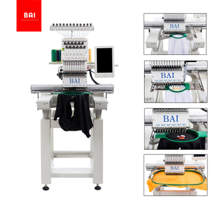 BAI Manufacturing Commercial Top Single Head Leather Bag Embroidery Machine Price