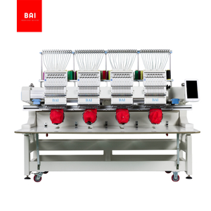 BAI 4 Heads 12 Needles Computerized Industrial Embroidery Machine for Hat Tshirt Cap