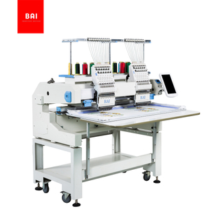 BAI High Speed Commercial 2 Head 12 Colors Computerized Hat Embroidery Machine