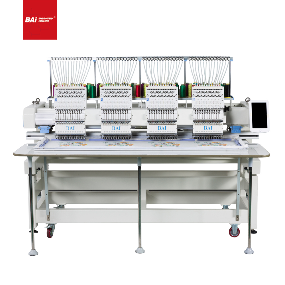 BAI Four Heads Computerized Embroidery Machine That Can Be Customized for The Factory