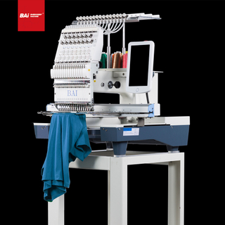 BAI Computerized Operation Household 12 Needles 1 Head T-shirt Jeans Cloth Flat Embroidery Machine