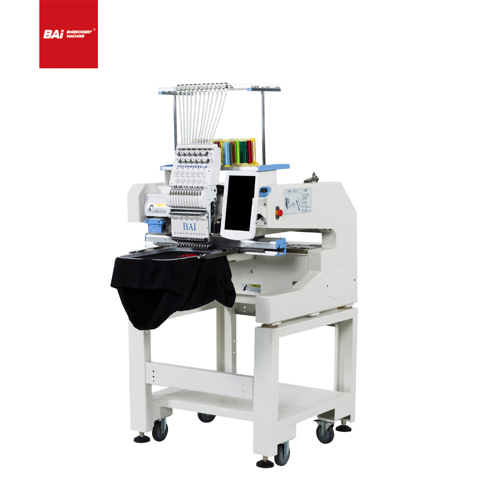 BAI High Speed Cap And T-shirt Embroidery Machine for Garment with Computerized Automatic
