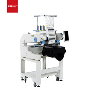 BAI High Speed Portable 12 Needles Fabric Hat Embroidery Machine for Factory in China