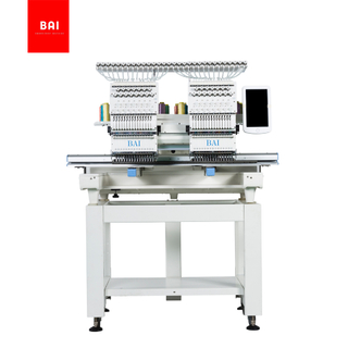 BAI 400mm*450mm Two Head Computerized Embroidery Machine for Hat T-shirt Flat Embroidery