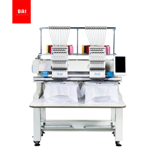 BAI high quality 12 needles two heads DAHAO computer hat embroidery machine