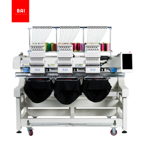 BAI Commercial 3 Head 12 Colors Computer Hat Flat T-shirt Embroidery Machine