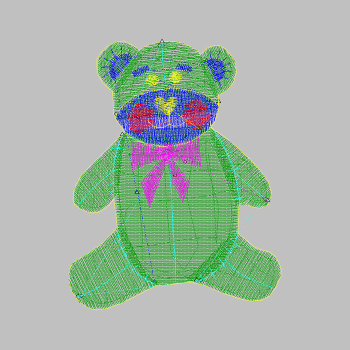 The most popular bear embroidery pattern is used for baseball uniform embroidery