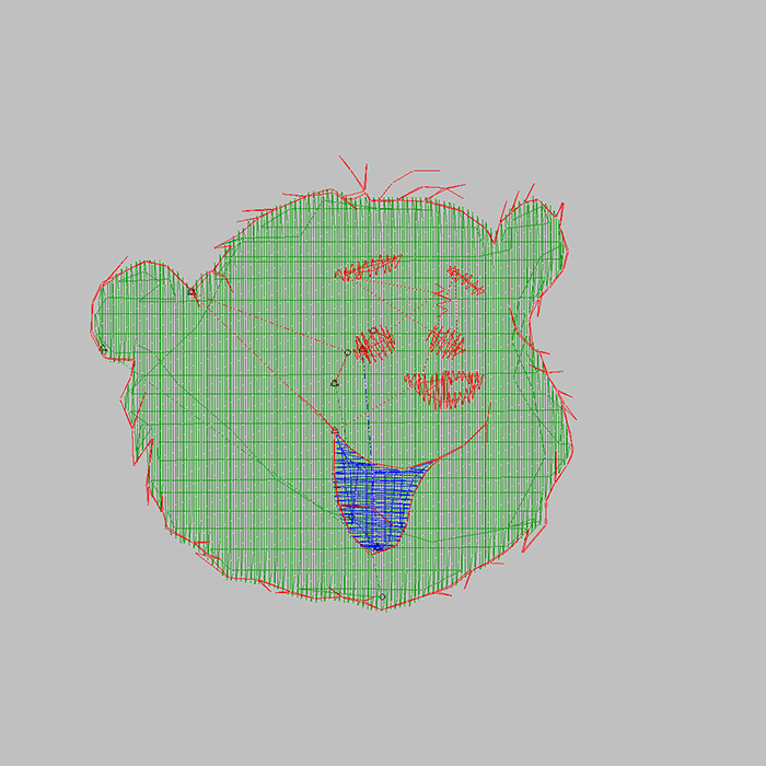 2020 Super Cute Cartoon Cartoon Bear Embroidery Pattern, Large Area Embroidery Available T-shirt, Shirt, Jeans