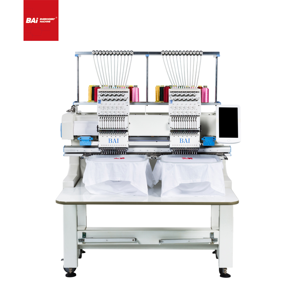 BAI High Quality Dress Cap Embroidery Machine with 15 Needle
