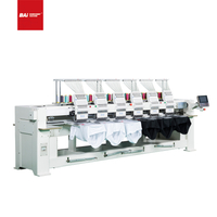 BAI Dahao 6 Head Flat Computerized Embroidery Machine for Hat T-shirt Shoe Dress