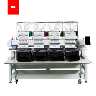 BAI 4 Head Computerized Embroidery Machine for Hat T-shirt Flat Embroidery