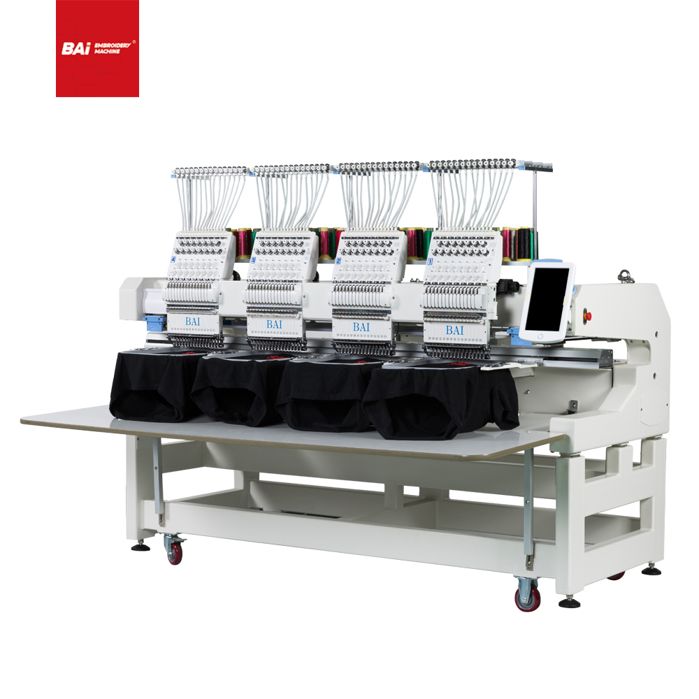 BAI High Speed Automatic Intelligent Computerized Embroidery Machin with Good Price
