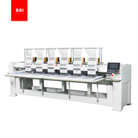 BAI High Speed 12/15 Colors Computer Dahao Software 6 Head Embroidery Machine for Hat