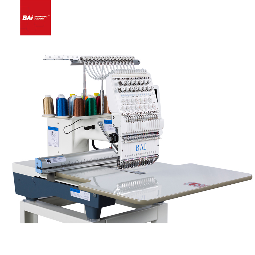 BAI High Speed Home Use 300*500mm 12 Needles Computer Embroidery Machine for Embroidery Design Shop