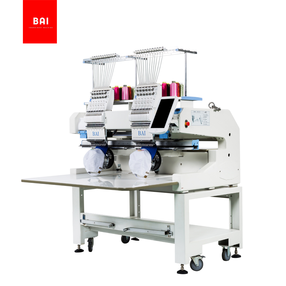 BAI Two Hand Worktable Size Industrial Flat Computerized Embroidery Machine