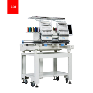 BAI 1200 Rpm 2 Head 15 Needles Hat/shirt/flat Embroidery Machine for Sale