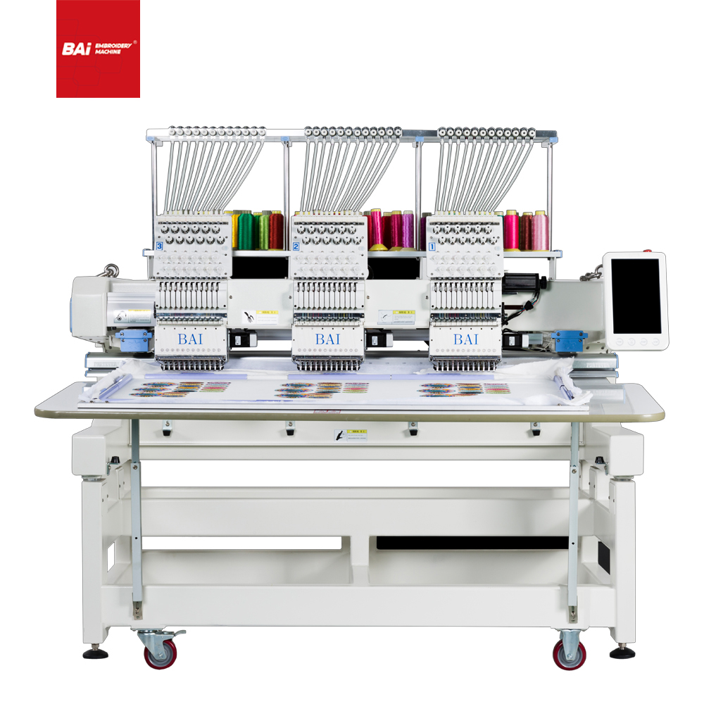 BAI Automatic High Speed Computerized Cap Embroidery Machine with Twelve Needles
