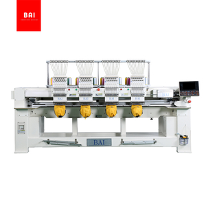 BAI HE1204 1200rpm High speed 12 colors DAHAO computerized embroidery machine 4 heads for cloth hats in china