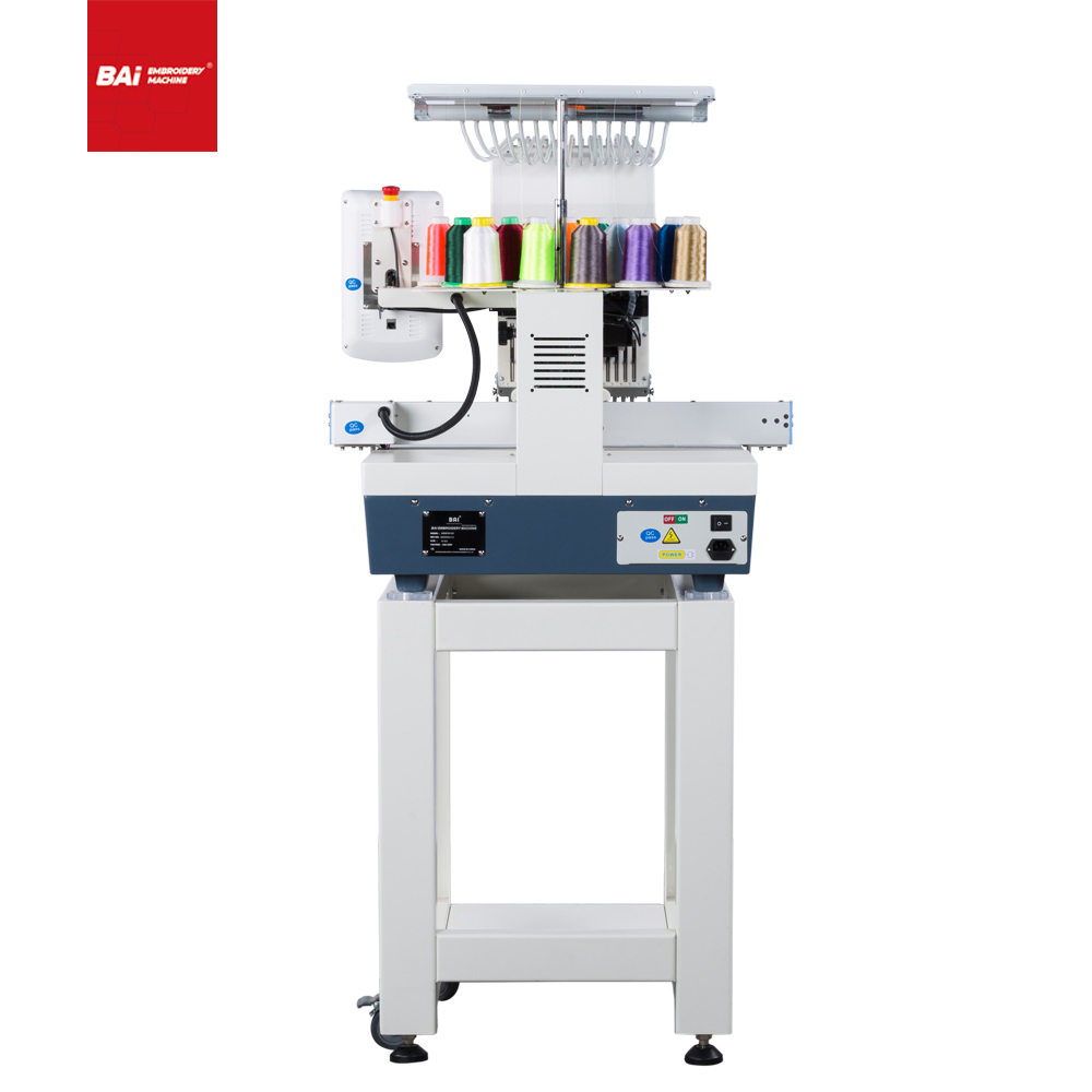 The Latest Industrial Design BAI Single Head Computerized Embroidery Machine