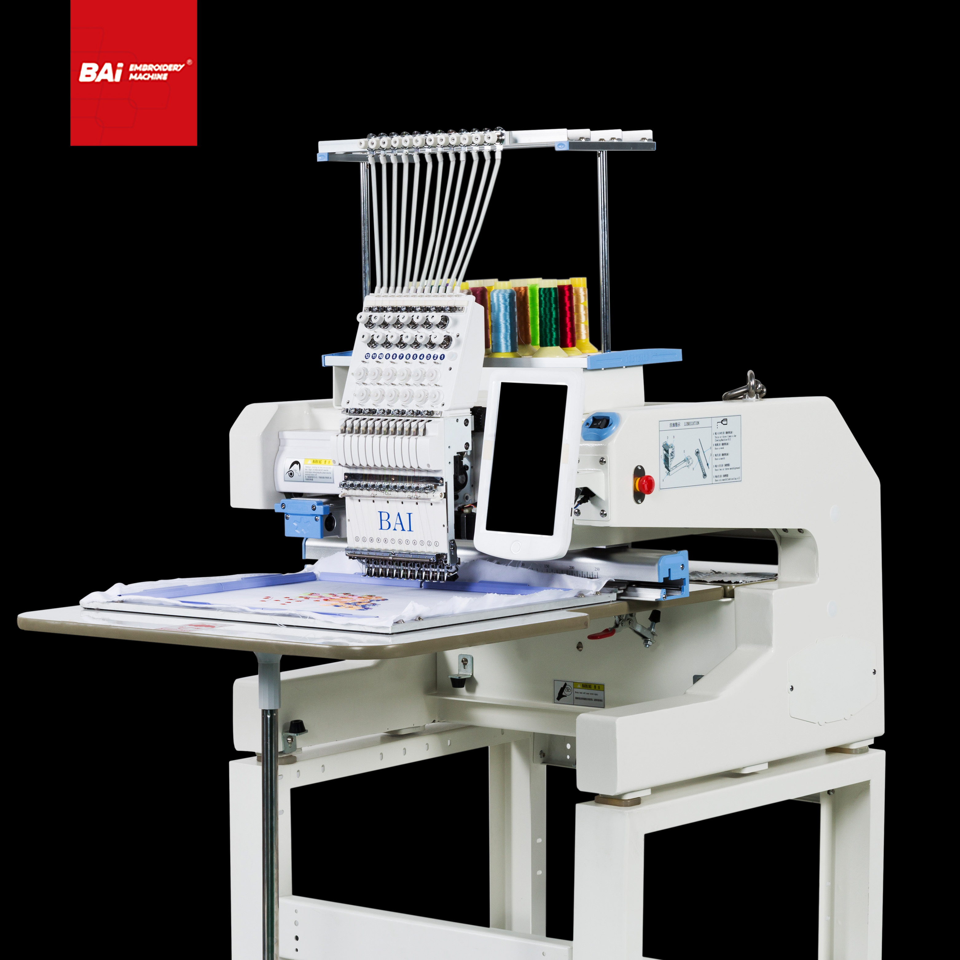 BAI Single Embroidery Machine for Automatic with Size 400*500