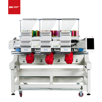 BAI New Three Heads Embroidery Machines for Cap T-shirt Flat with Computer Operation