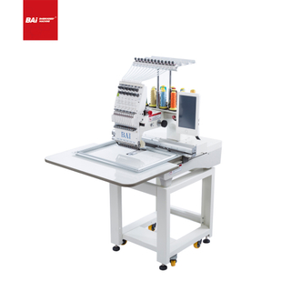 BAI Automatic Twelve Needles Single Head Computer Hat Embroidery Machine for Factory
