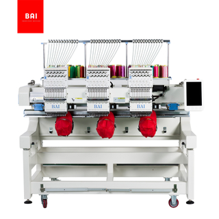 BAI Commercial 3 Head 12 Colors Computer Hat Flat T-shirt Embroidery Machine chain