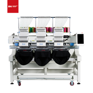 BAI High Speed Three Heads Computerized Cap Embroidery Machine for Sale