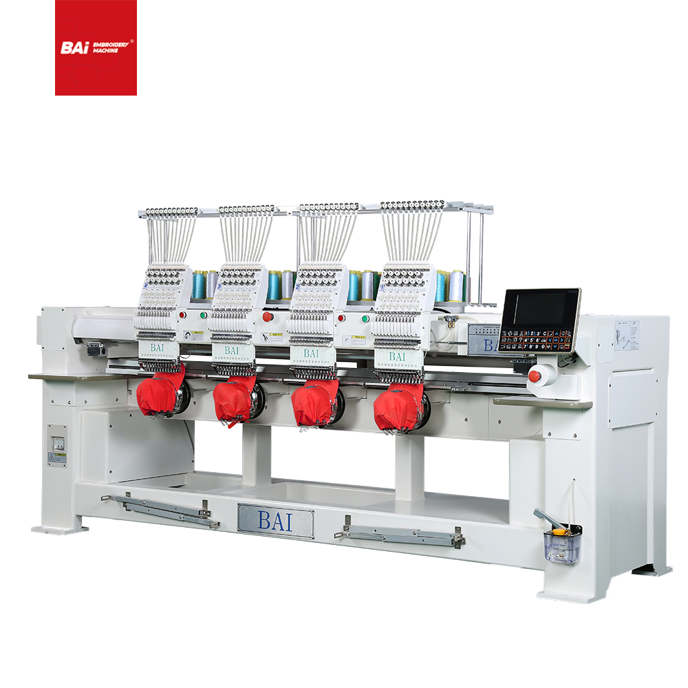 BAI High Speed Automatic 4 Heads Embroidery Machine for Commercial
