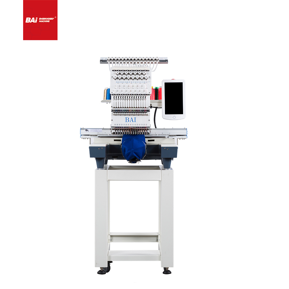 BAI Single Head 12 Needles Commercial Digital Embroidery Machine with Cheap Price