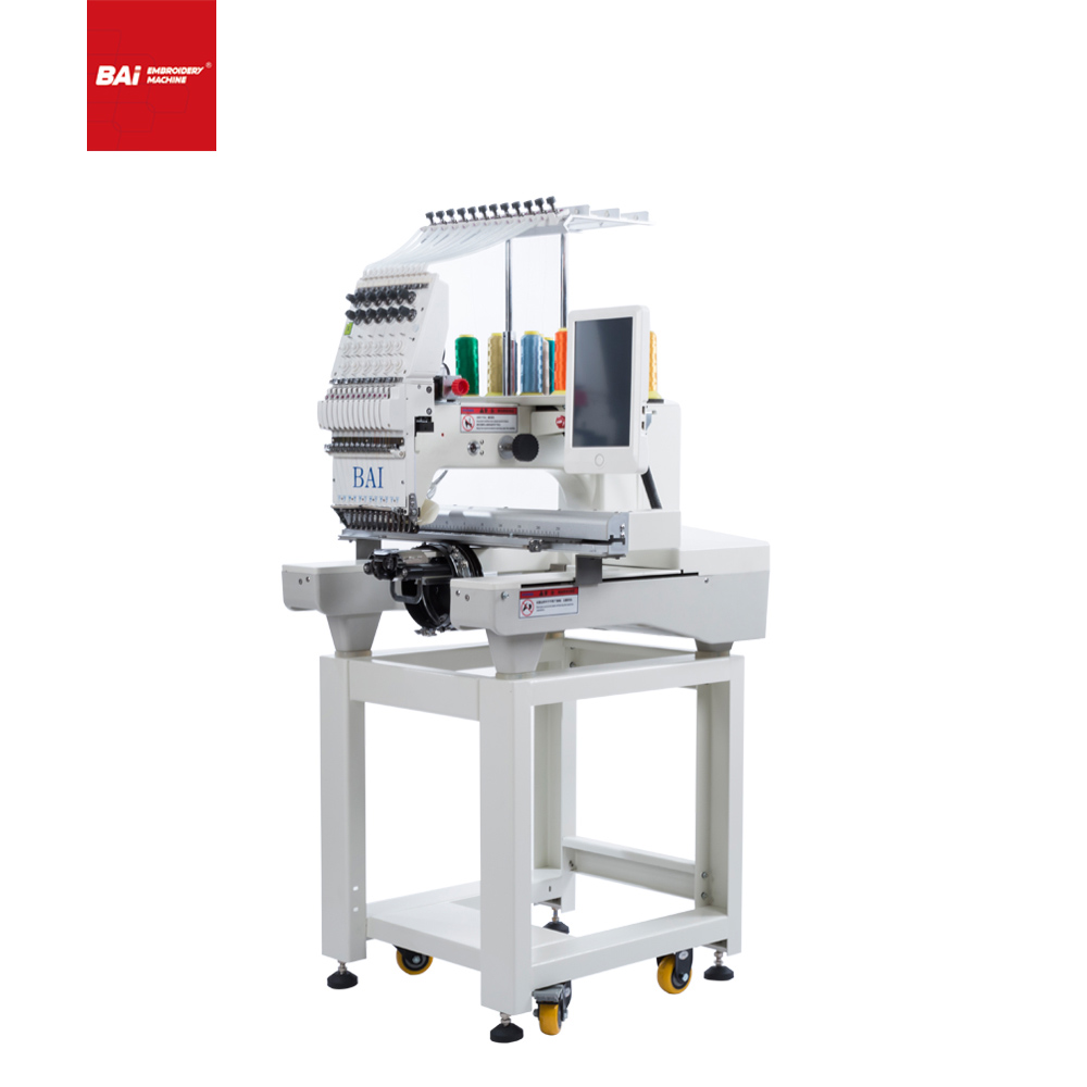 BAI New Single Head Computerized Embroidery Machine with The Latest Technology