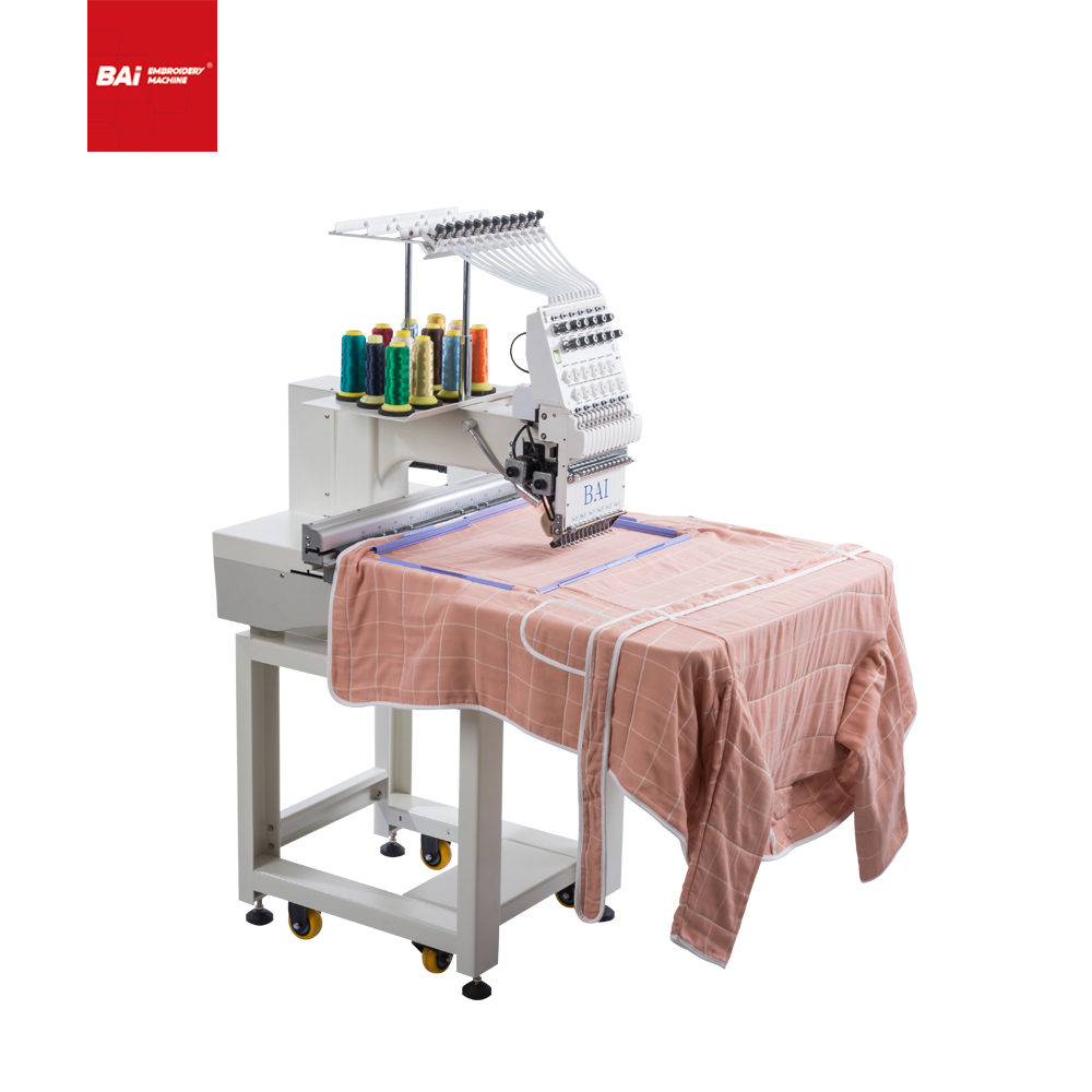 BAI High Speed Household Small Area Computerized Embroidery Machine That Can Continue Working